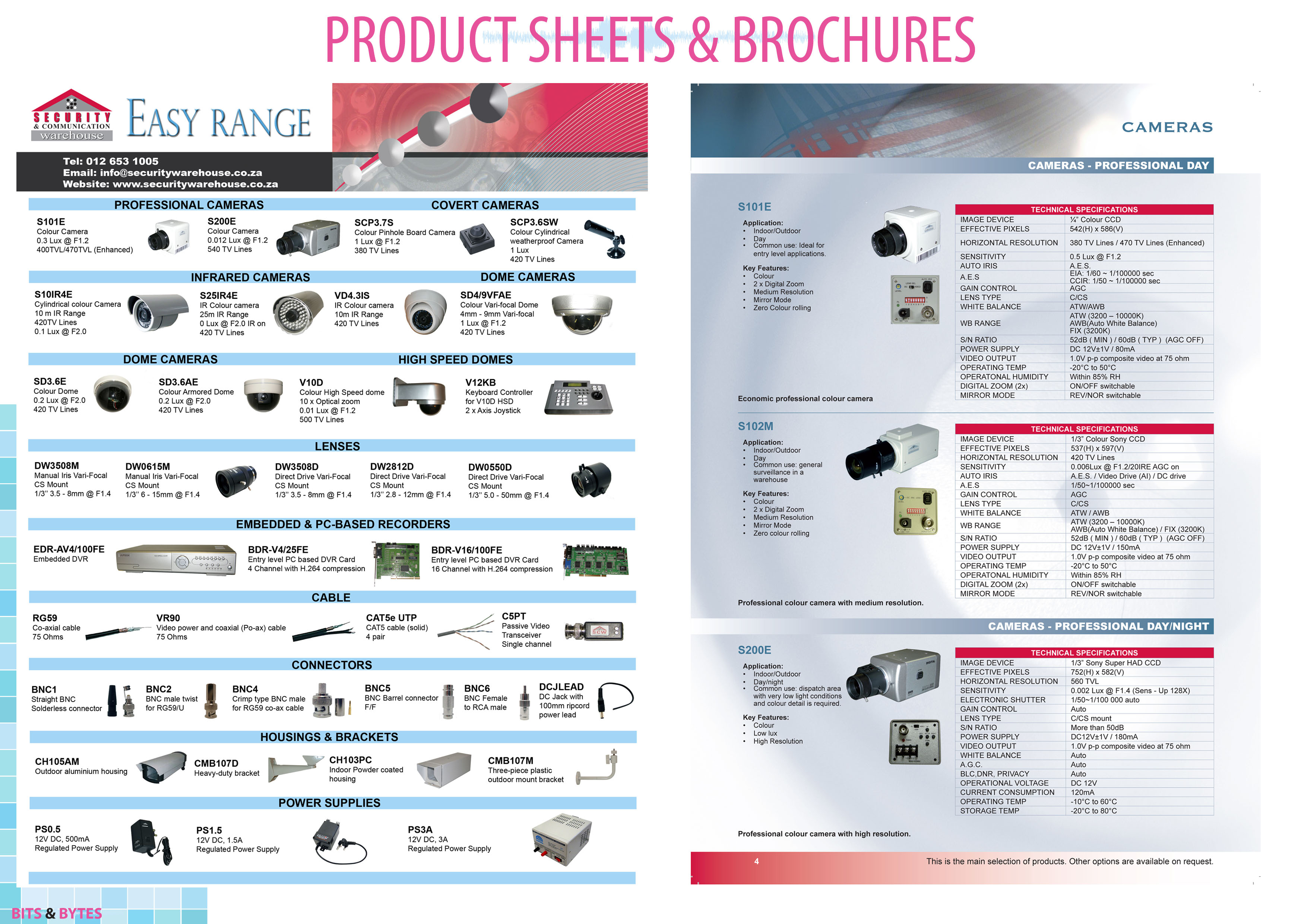 Product Sheets & Brochures
