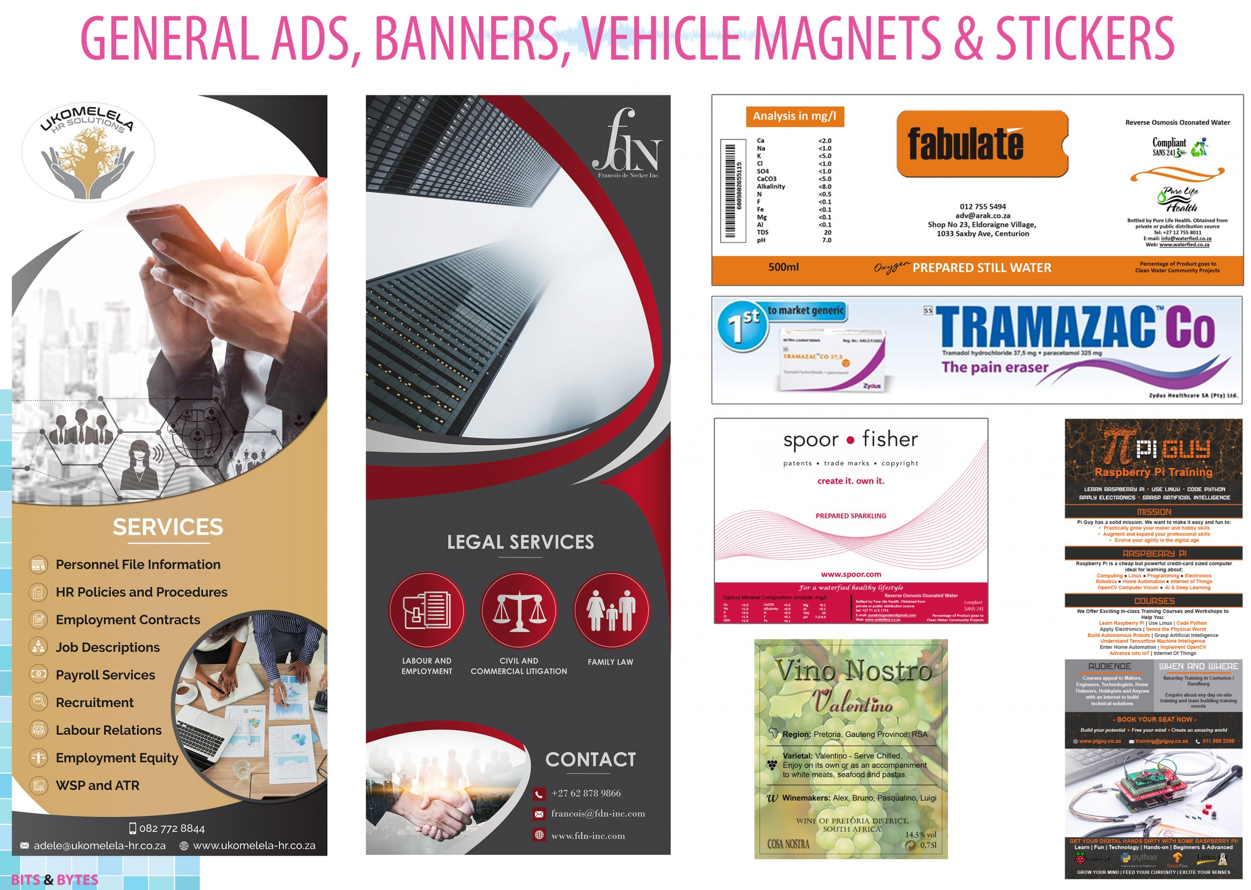 General Ads, Banners, Vehicle Magnets & Stickers